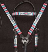 """Apache III"" Handmade Beaded Tack Set"