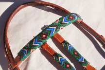 """Turquoise Summer"" Beaded Headstall"