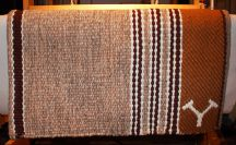 "Handmade ""Branded"" Saddle Blanket"