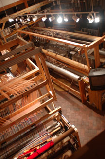 The weaving studio at the Brown Cow Saddle Blanket Company