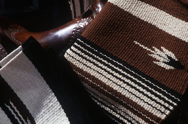 hand-woven saddleblankets by Christina Bergh Woolley at the Brown Cow Saddle Blanket Company.