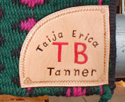 add a leather name plaque to any saddle blanket we sell