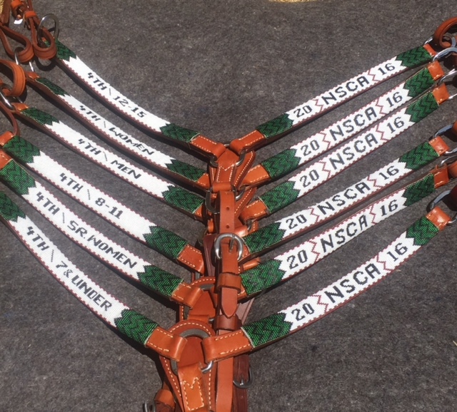 Beadwork breastcollars made for the National Rodeo Club 2016.