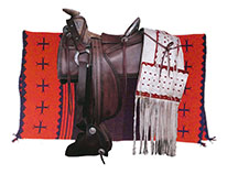 historic Navajo saddle blanket reproduction