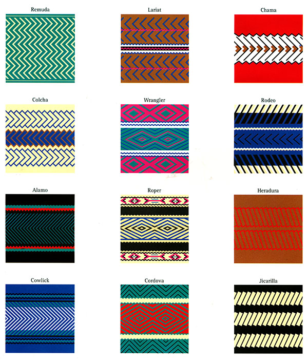 saddleblanket patterns